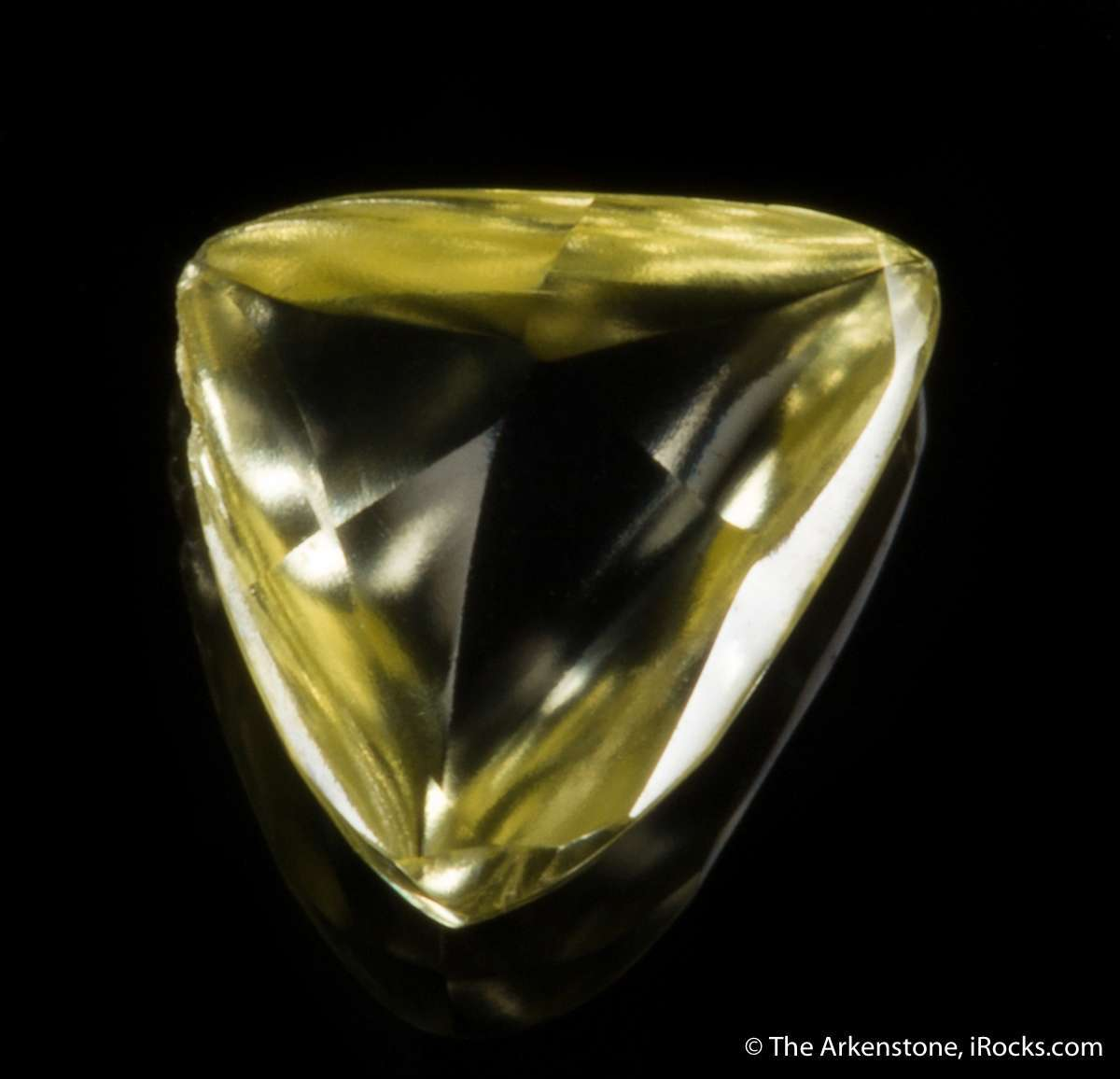 A stunning rich yellow diamond famous Argyll Mine showing natural