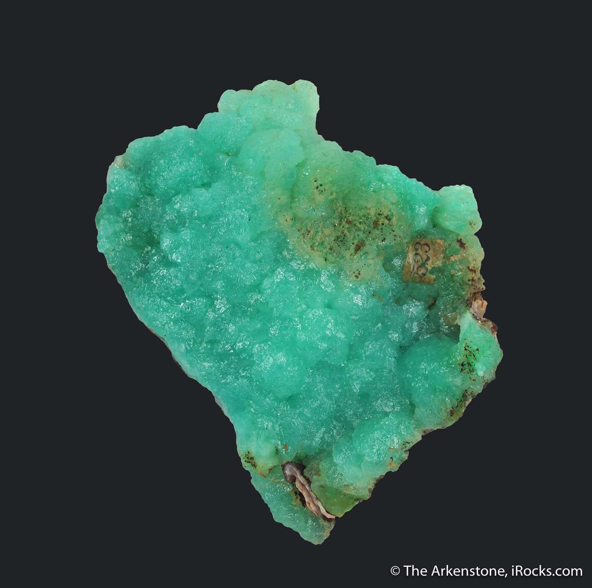 On Limonite matrix extremely aesthetically shaped plate Cuprian