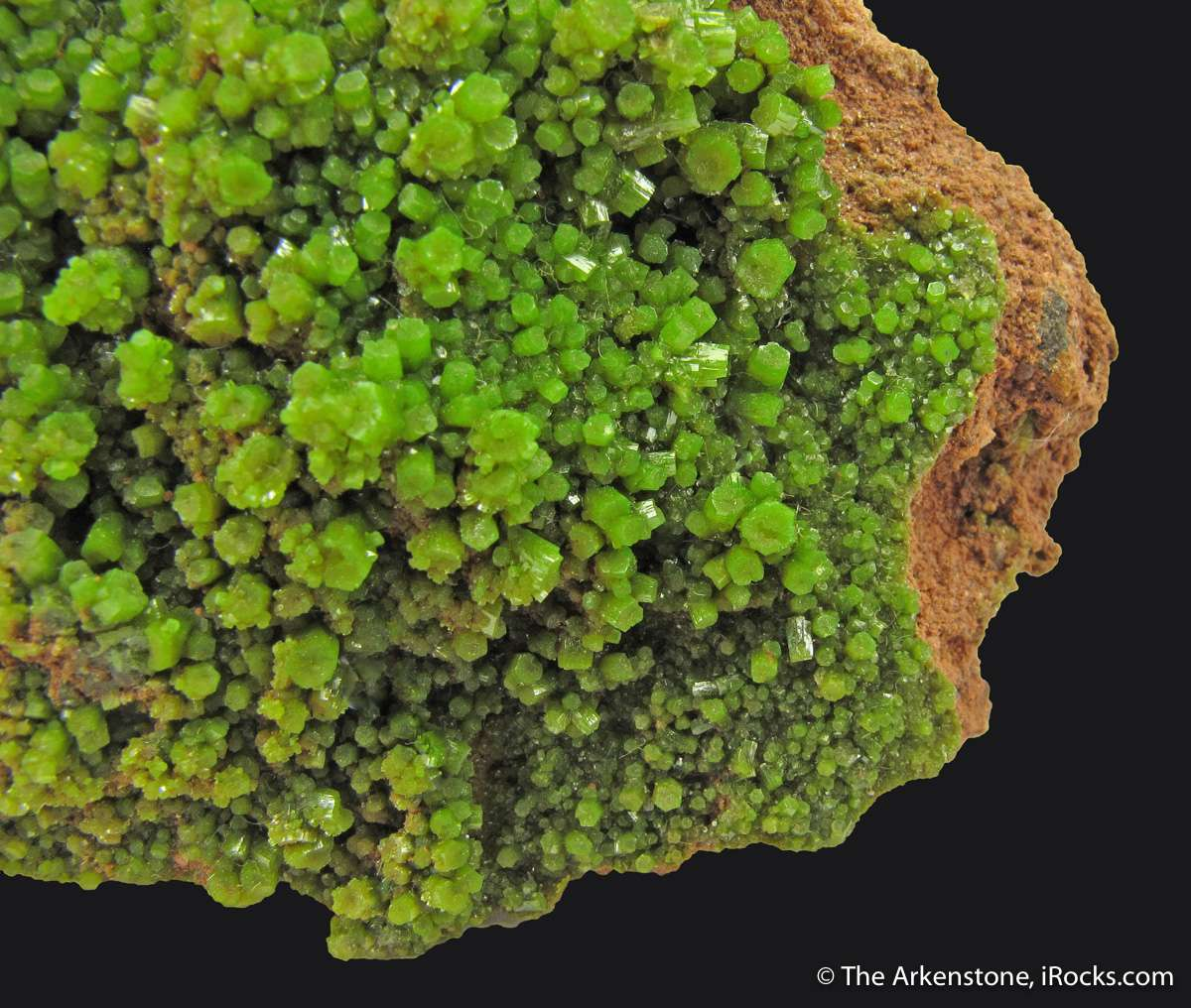 Excellent historic fine Pyromorphite probably dates early mid 1800 s