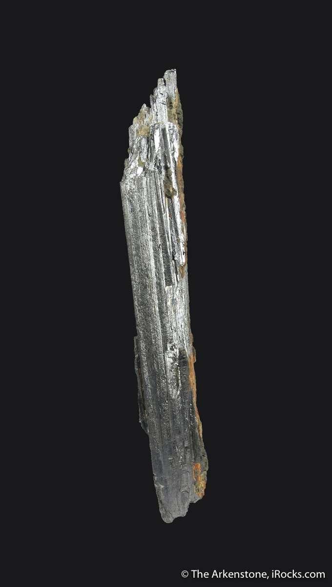 This 6 5 cm silvery Stibnite wonderful silky metallic luster trim