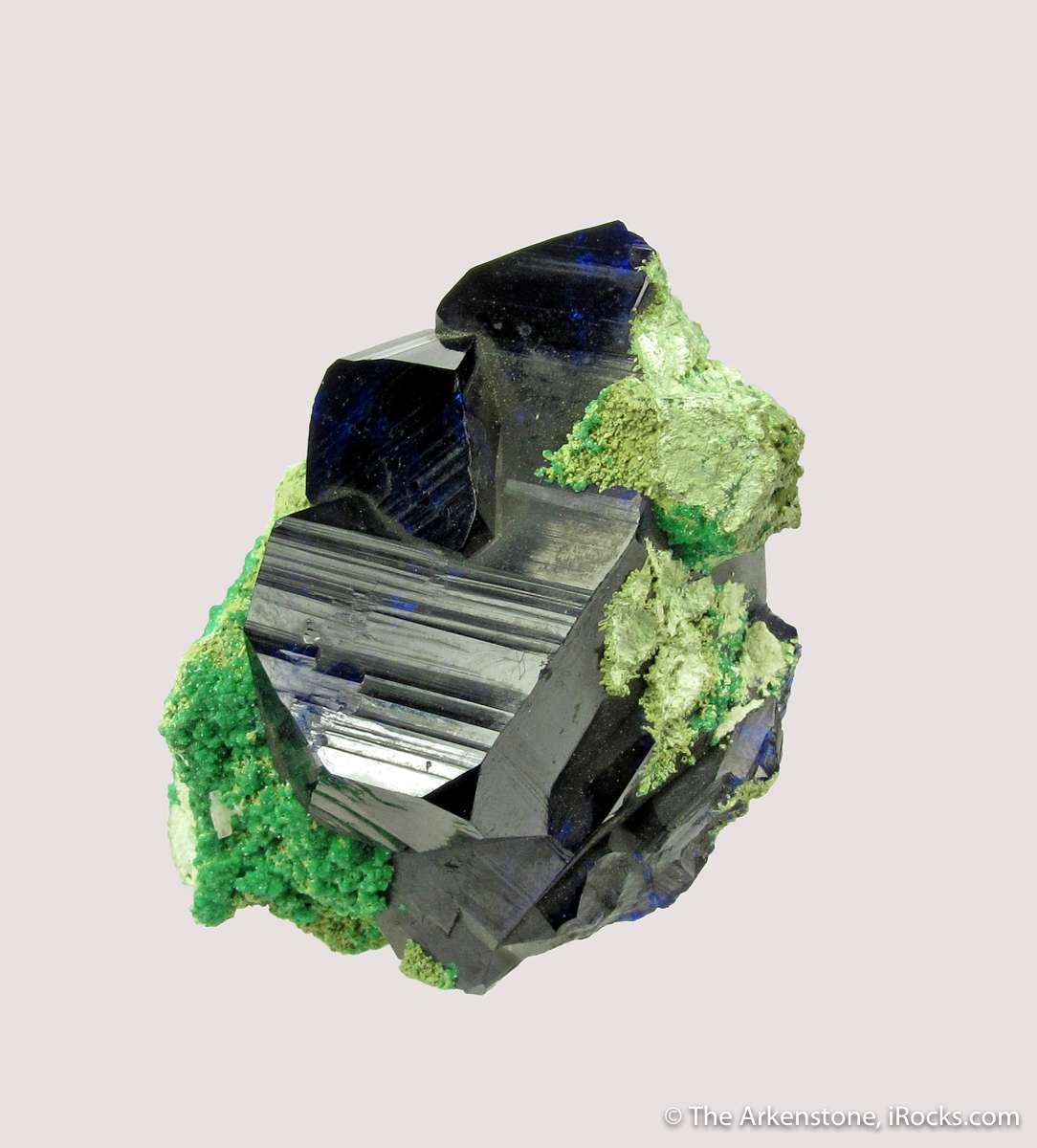 To quote Kay s label Azurite xx superb miniature large intersecting