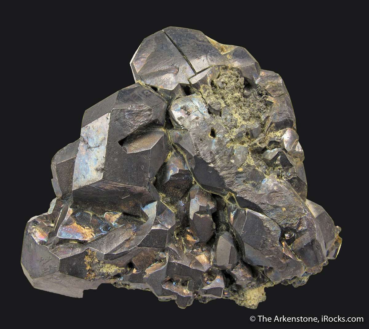 Very fine cluster metallic gray Galena crystals famous Freiberg