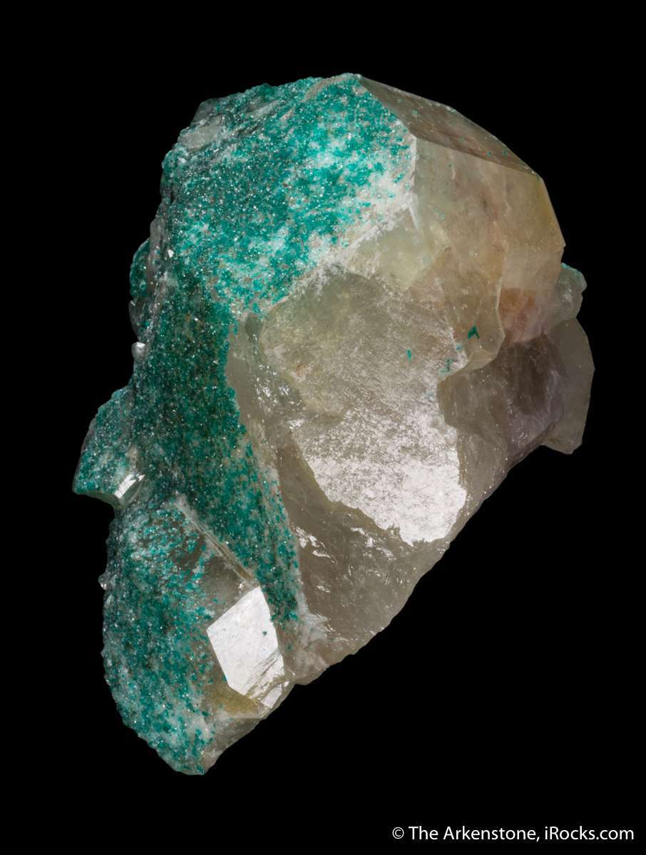 Quartz included Dioptase rare nature known small handful localities