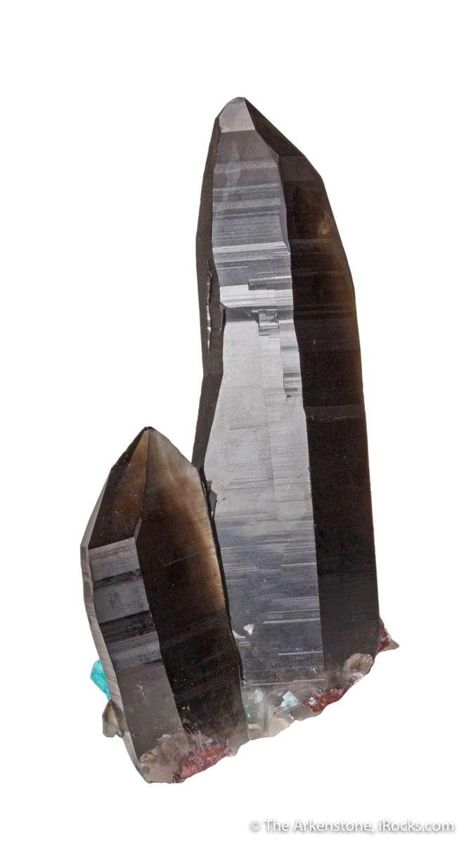 This specimen stark jet black smoky quartz natural pedestal accent