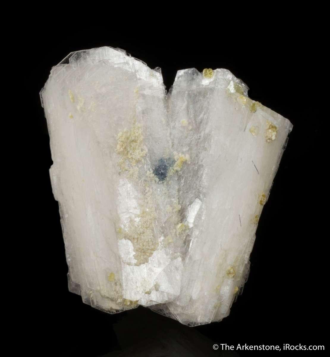 An elegant floater example superb translucent crystals bertrandite Two