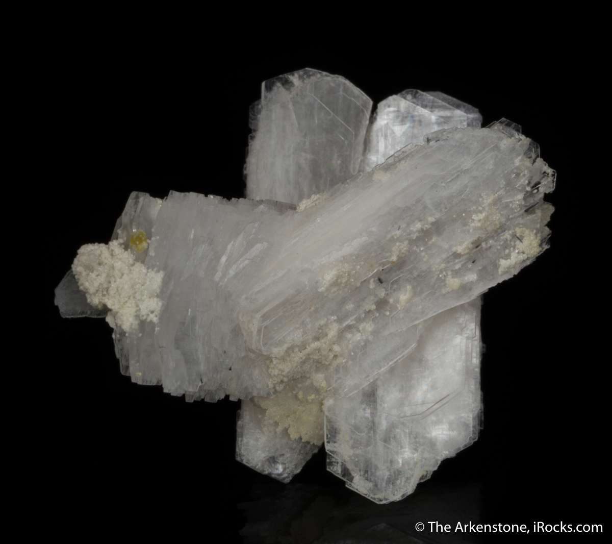 Three intergrown bertrandite crystals largest doubly terminated form