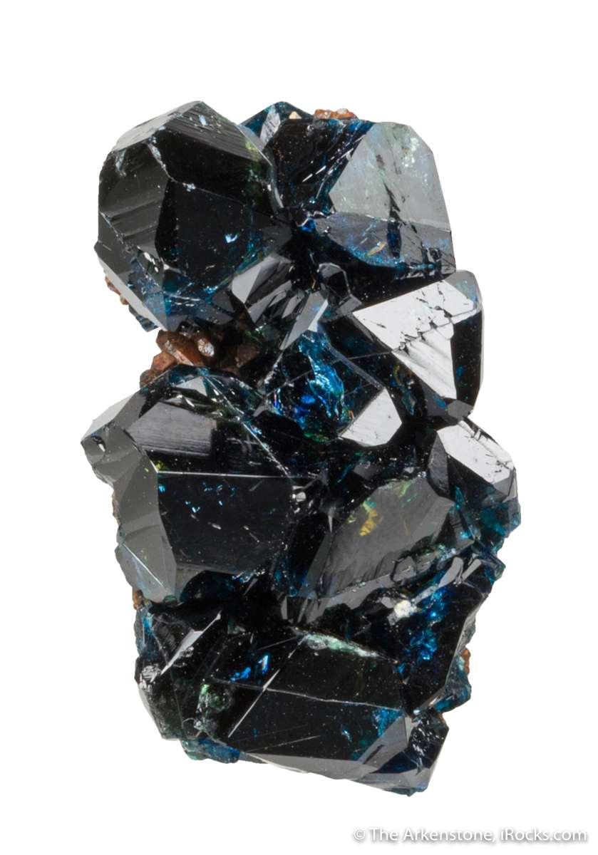 A fine lazulite miniature glassy large crystals Perched nicely