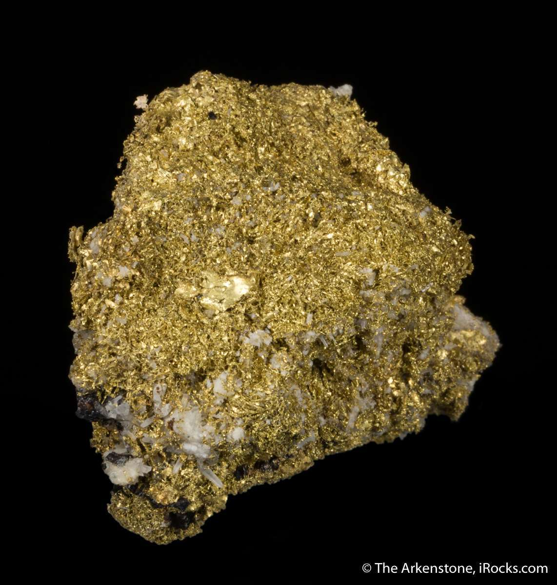 A solid mass lustrous rich buttery sponge gold soft crystals