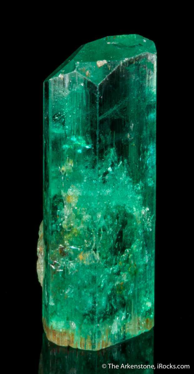 A glassy gemmy single superb thumbnail emerald crystal Along excellent