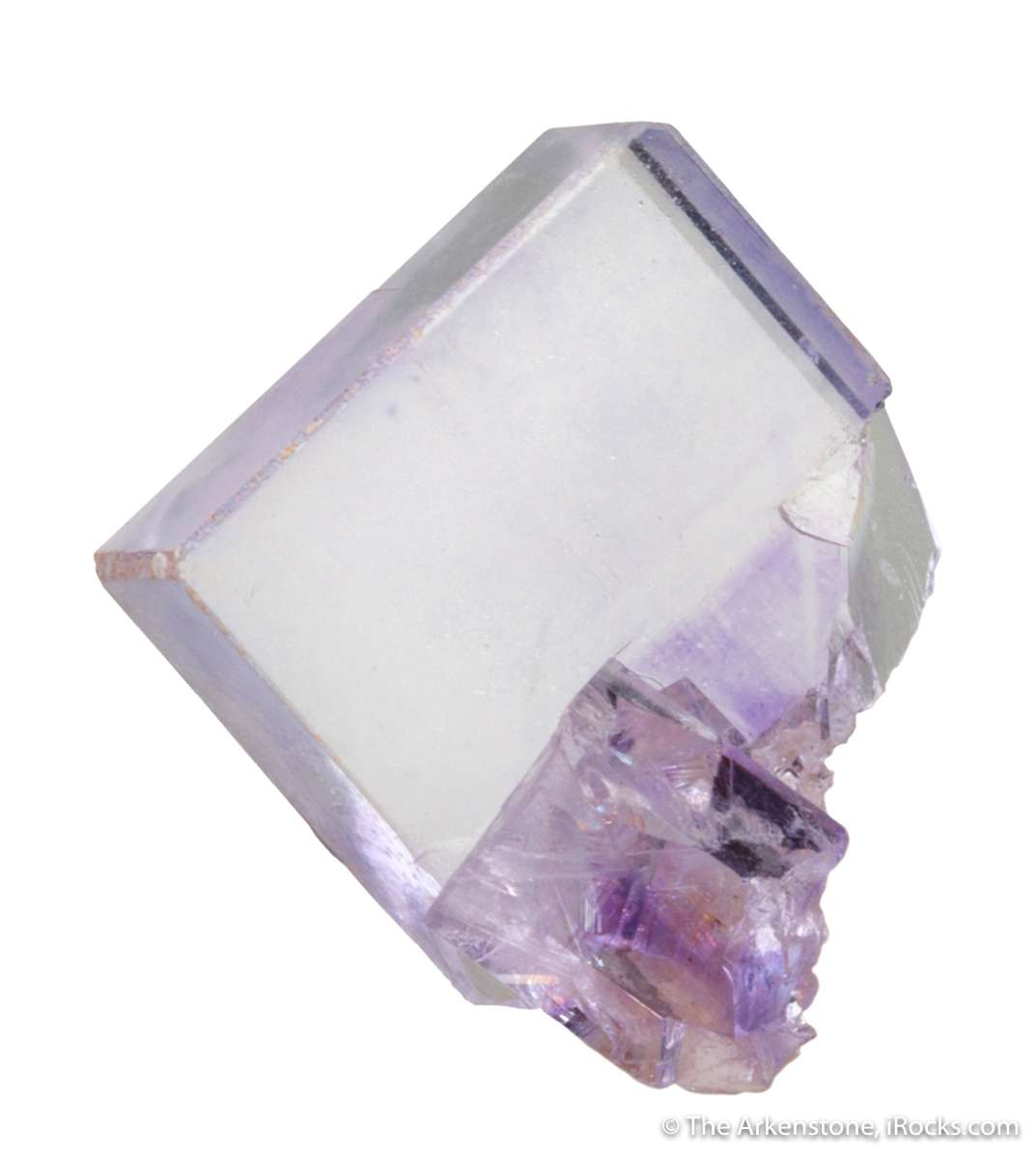A mind numbingly sharp textbook fluorite single crystal unusual locale