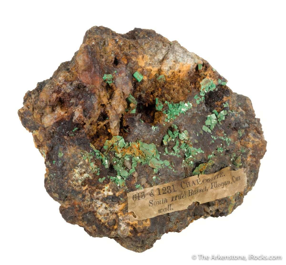 Tetragonal lustrous neon green crystals metatorbernite 5 mm emplaced