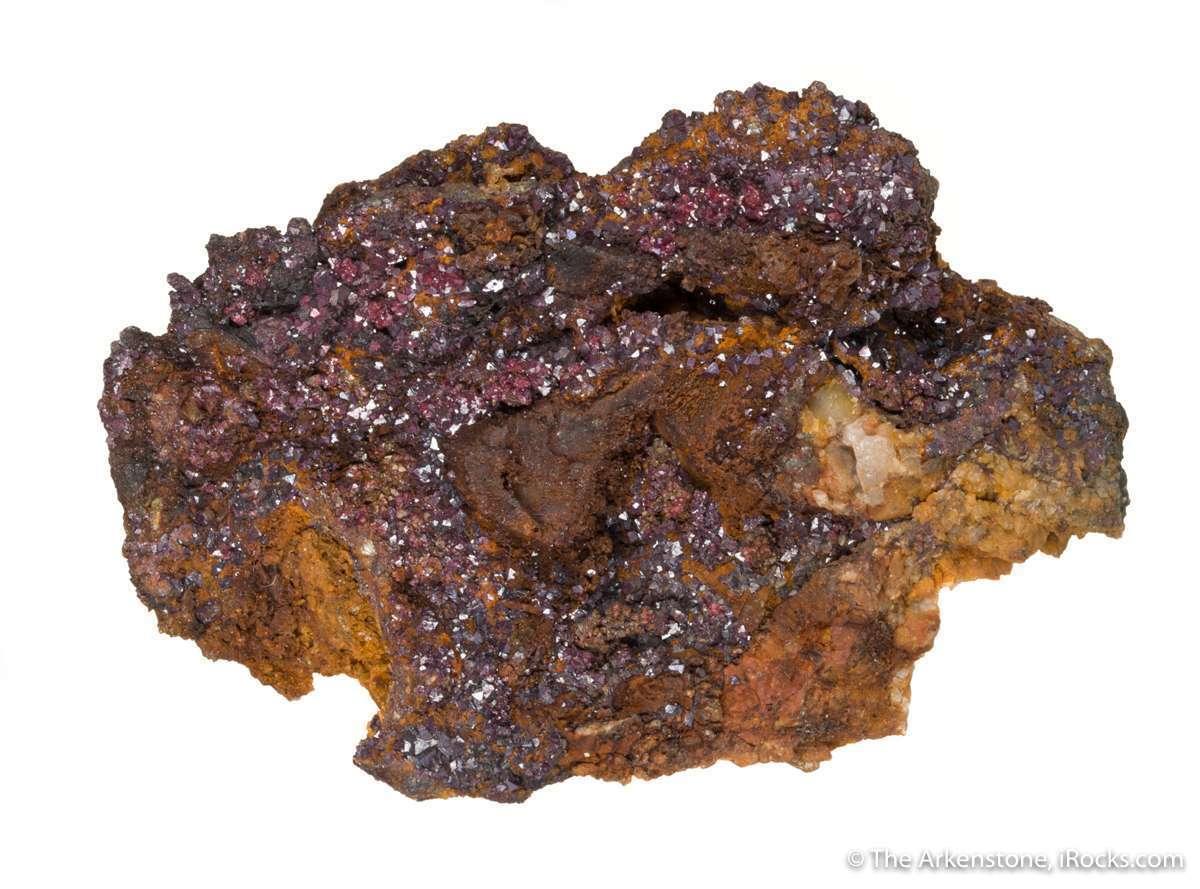A shallow vug ocherous limonite matrix host sparkling druse brownish