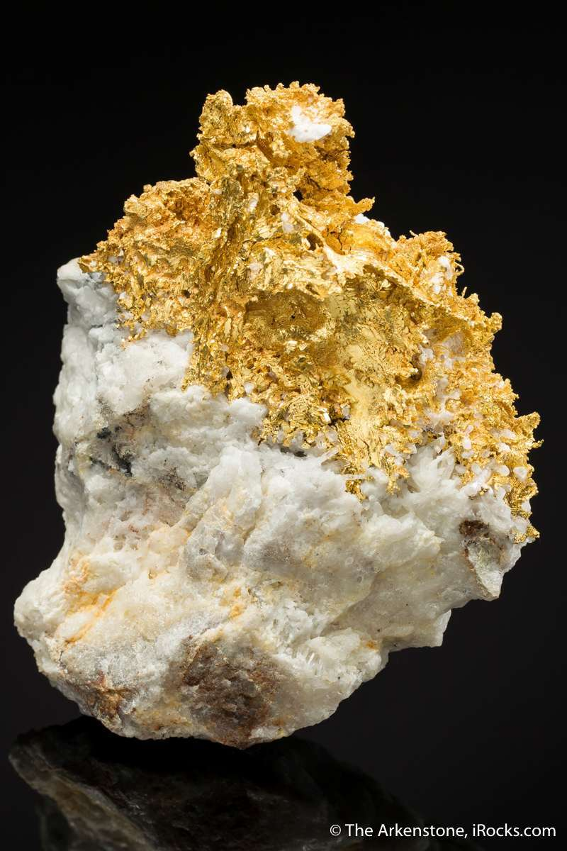 This specimen huge surface area intergrown thick gold leaves measuring