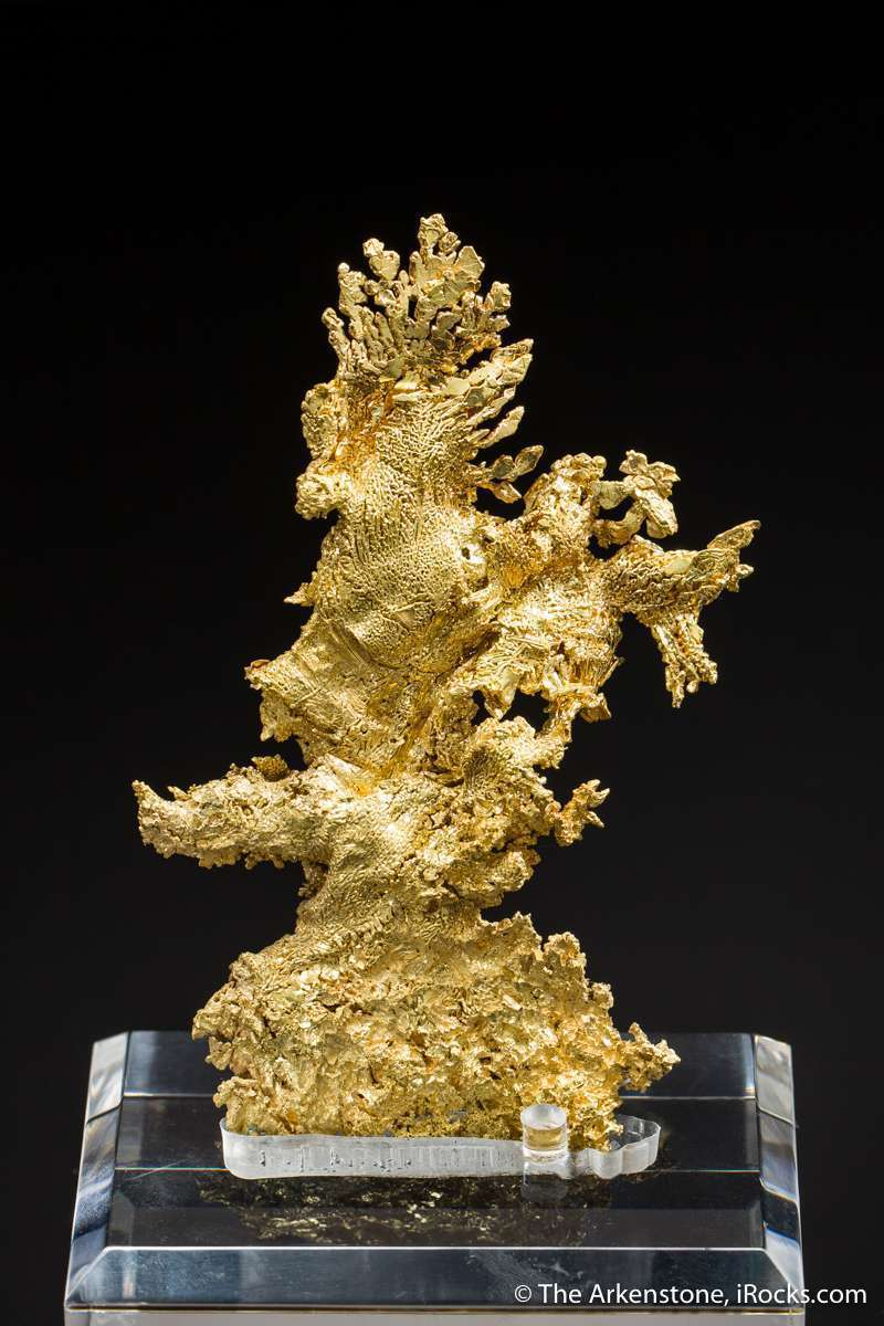 Gold California plentiful cabinet pieces exquisite crystallization