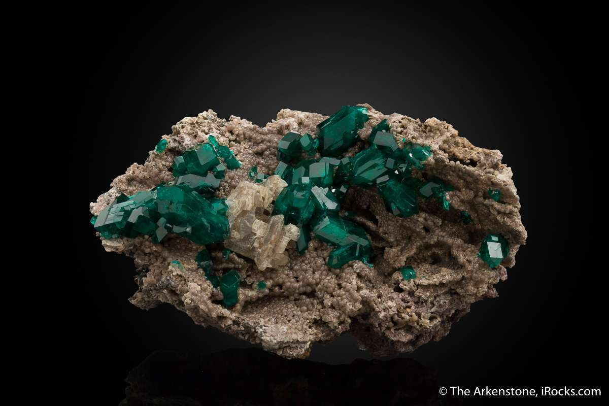 I surprised Tucson early 2017 new dioptase old locality apparently