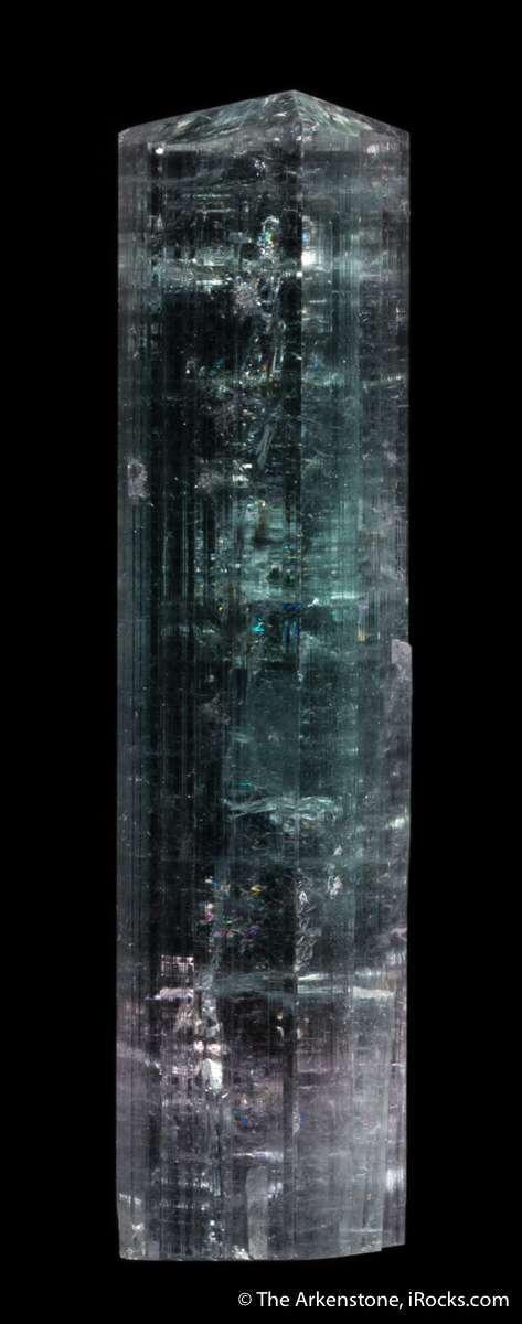 Glassy gemmy low angle bipyramidal termination lovely elbaite nearly
