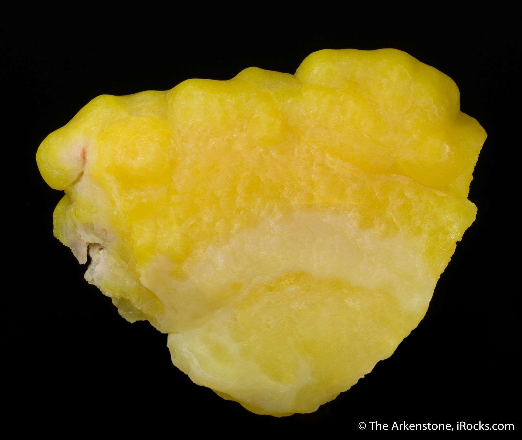 A stunning intense yellow smithsonite colored cadmium suppose fro ma