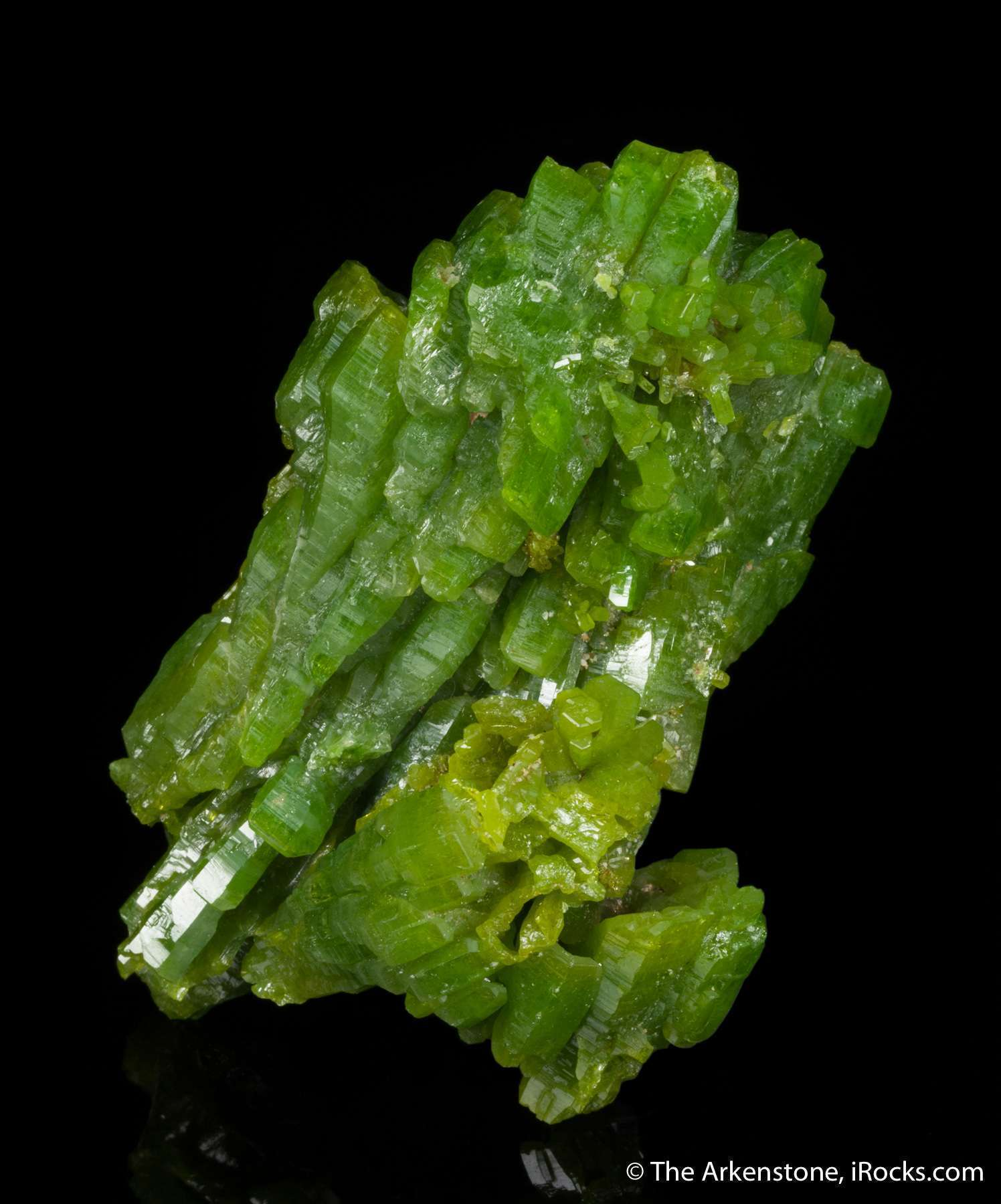 This robust massive specimen pyromorphite simply huge compared nearly