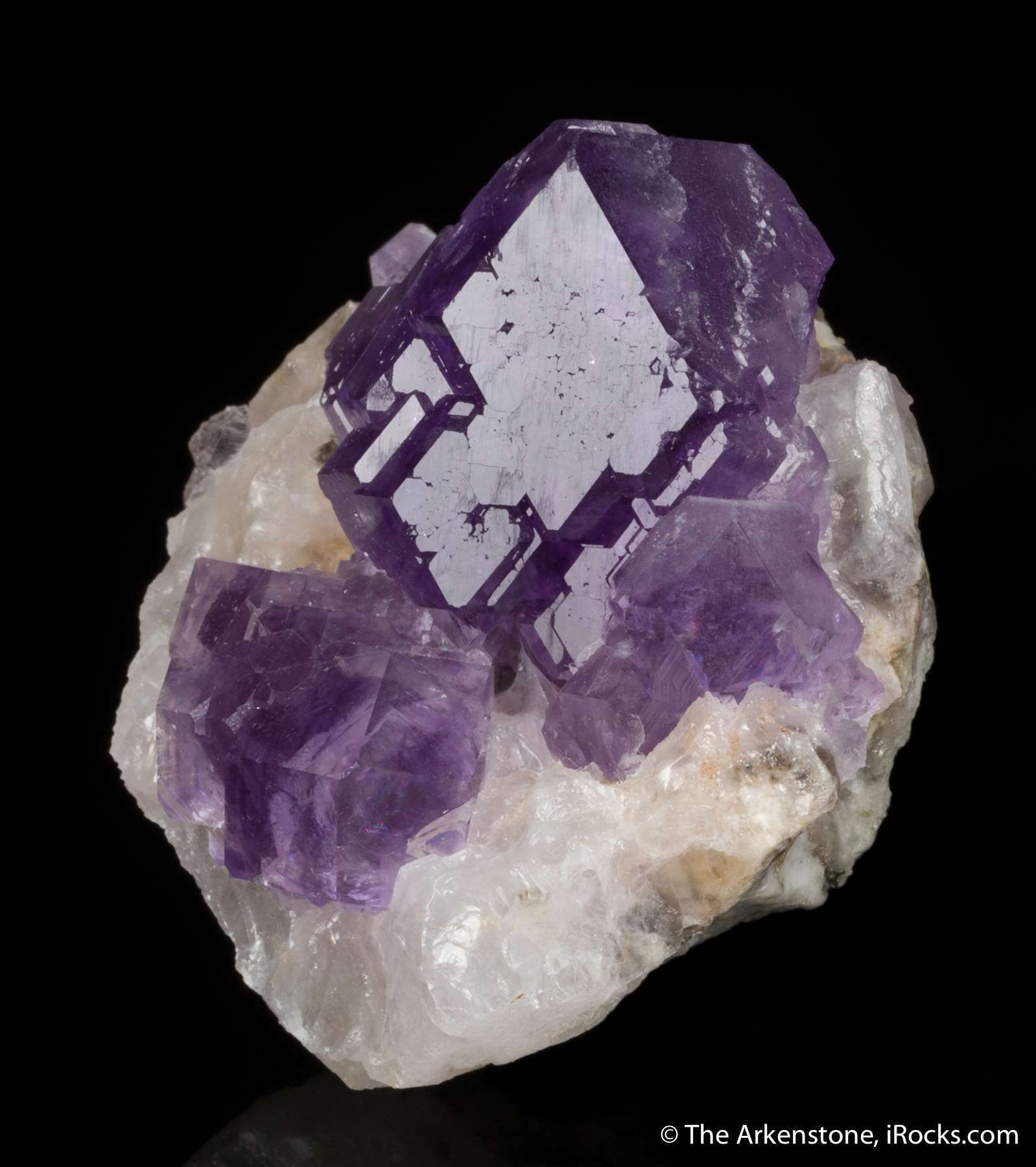 Stunning purple color makes impressive large miniature fluorite