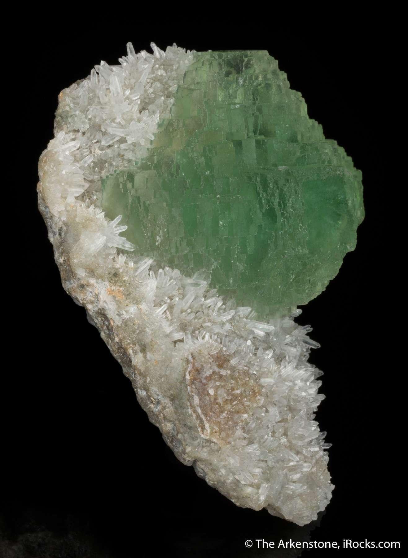 Perched aesthetically drusy sparkling pedestal quartz matrix single