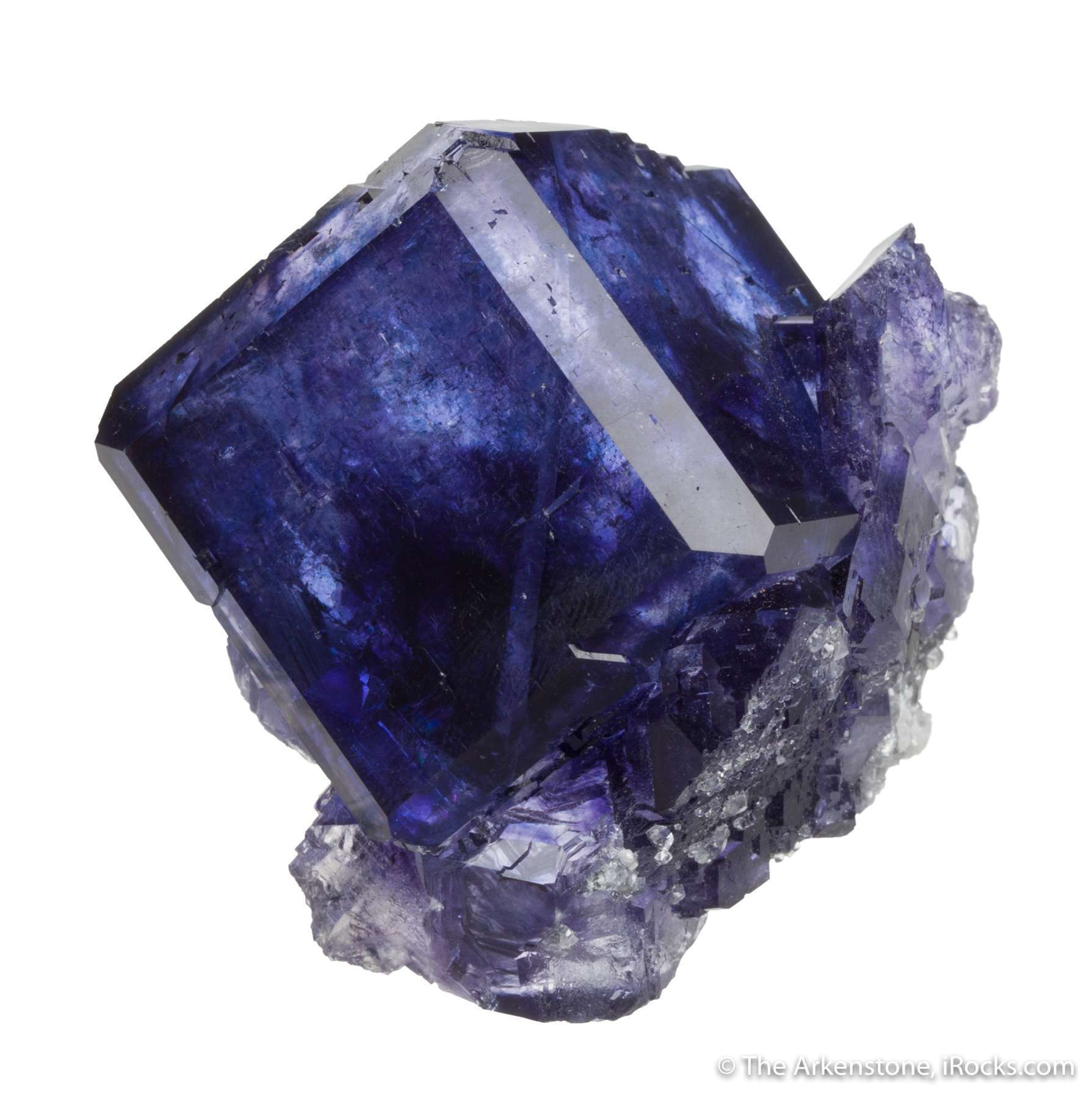 A shockingly gemmy intense purple single crystal showing exceptional