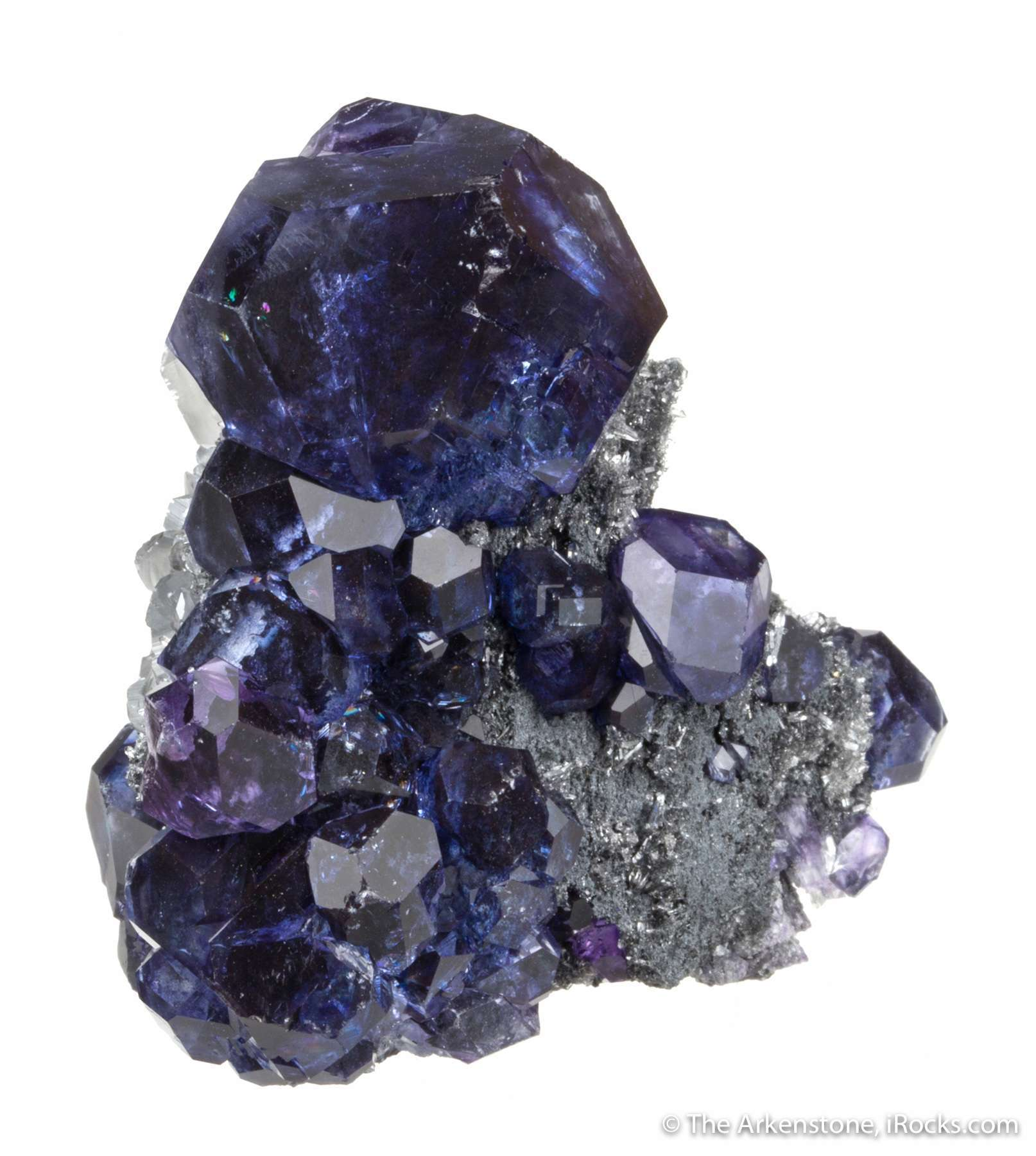 A gorgeous miniature fluorite new tanzanite fluorite China summer 2017