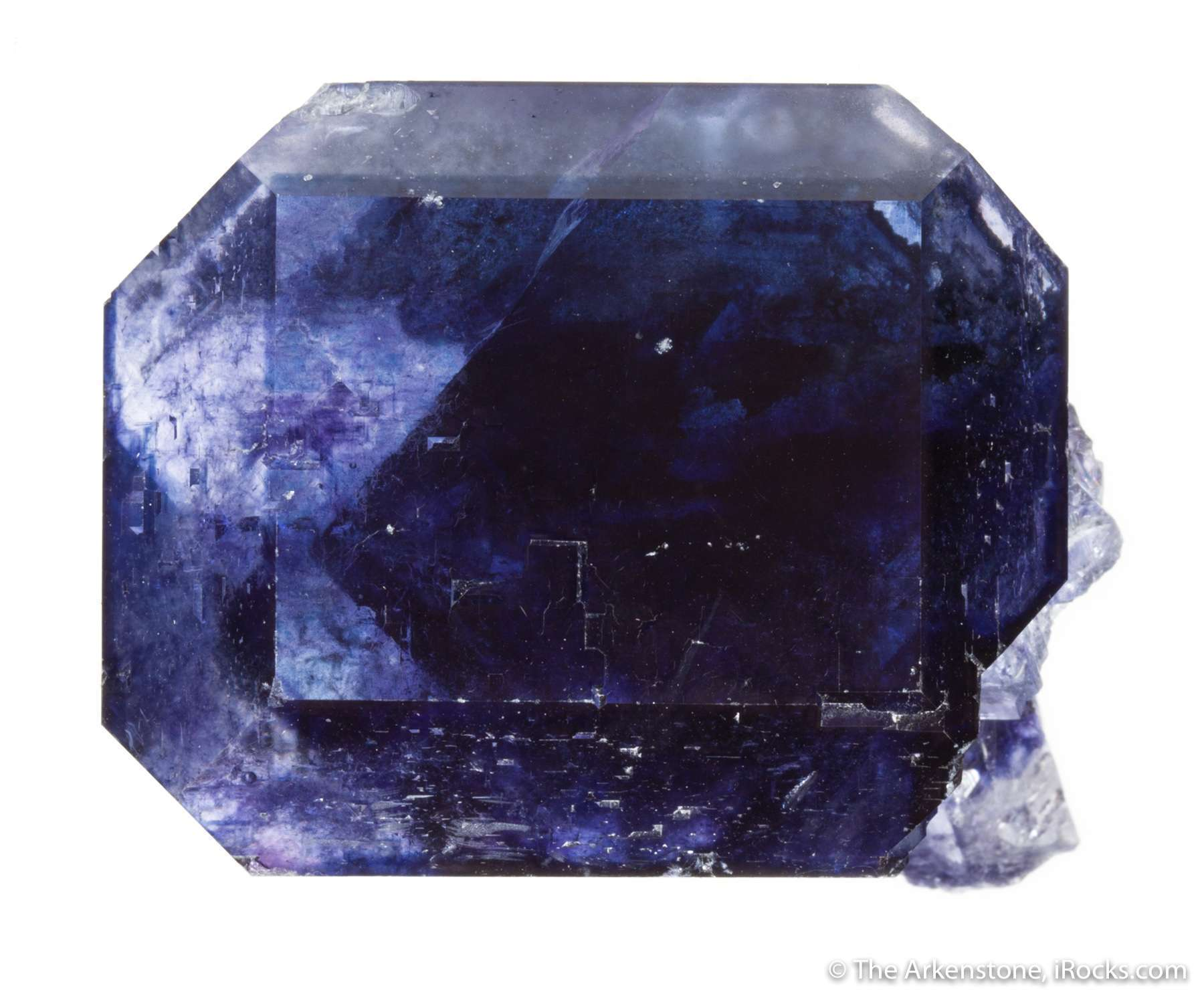 This gemmy richly purple single crystal nearly inch crystal looks like