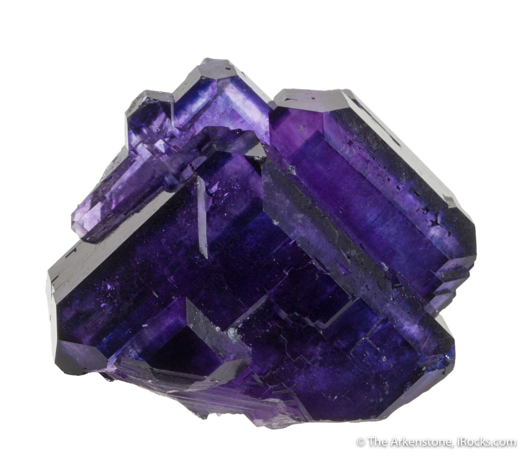 A richly colored cluster fantastic grape juice colored fluorites Found