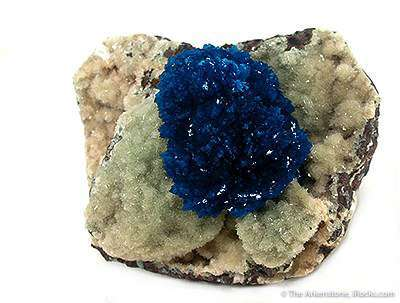 A superb cluster deepest royal blue cavansite irridescent luster