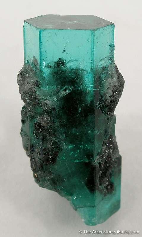 Riveting Emerald Gem On Calcite Irocks Fine Minerals
