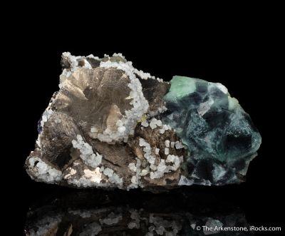 Pyrrhotite and Fluorite with Calcite